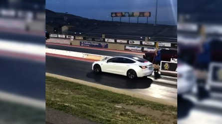 Tesla Model 3 Performance trounces Challenger Hellcat in drag race