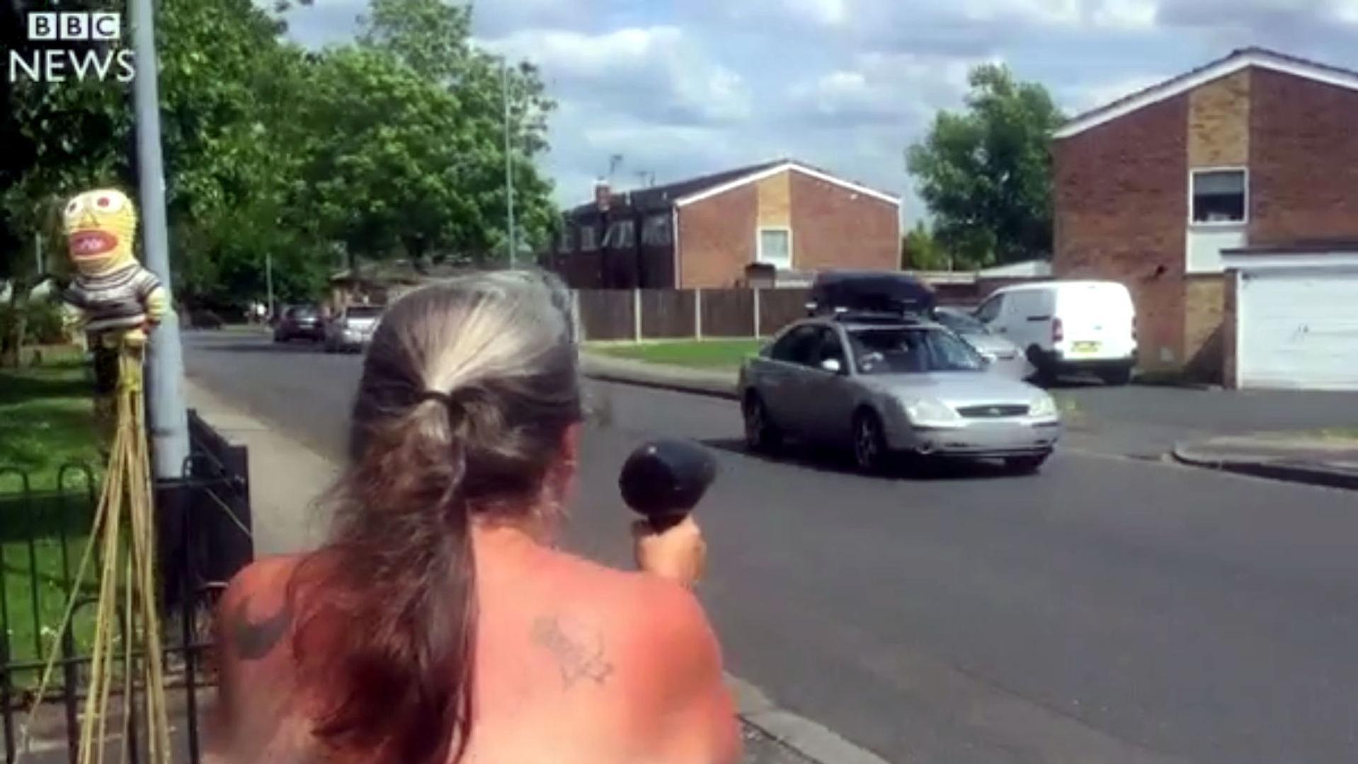 Grandma Pulls Old Hair Dryer Radar Gun Trick To Slow Drivers