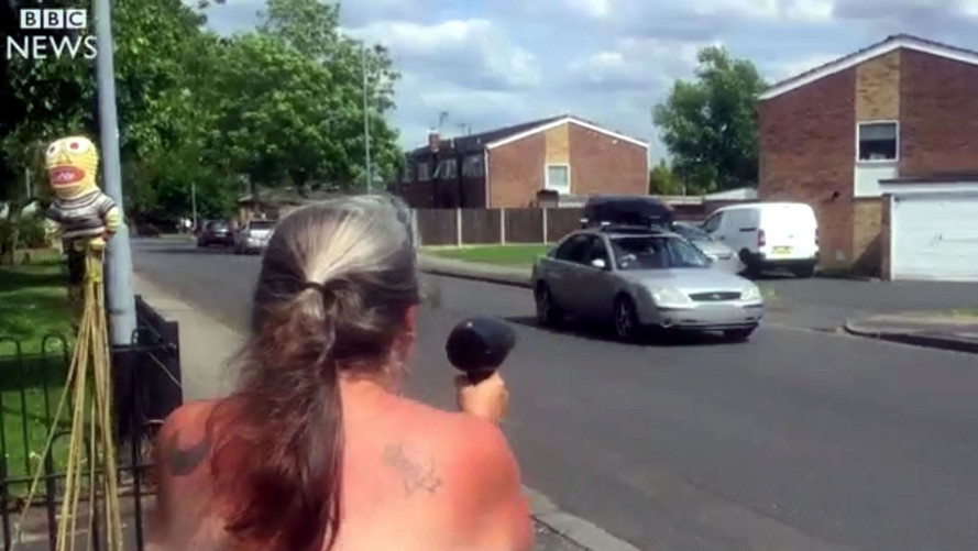 Grandma Pulls Old Hair Dryer Radar Gun Trick To Slow Drivers Down