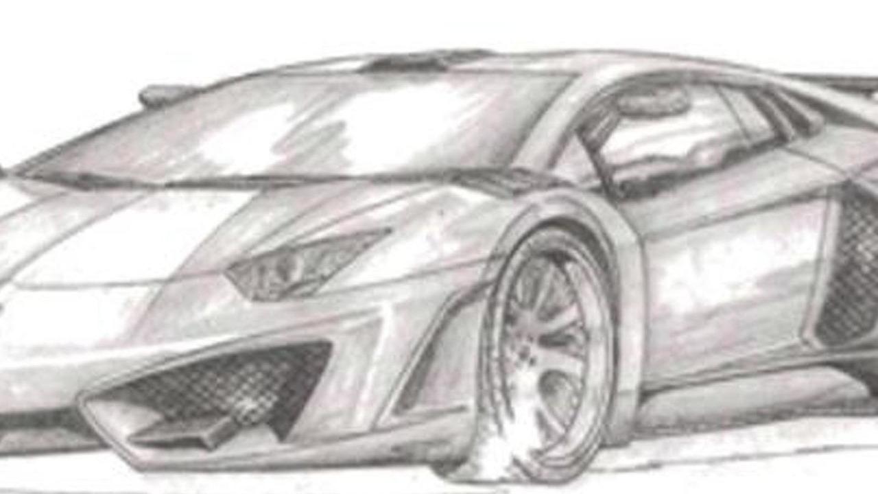 Lamborghini Aventador By Fab Design Sketch 05 08 2017