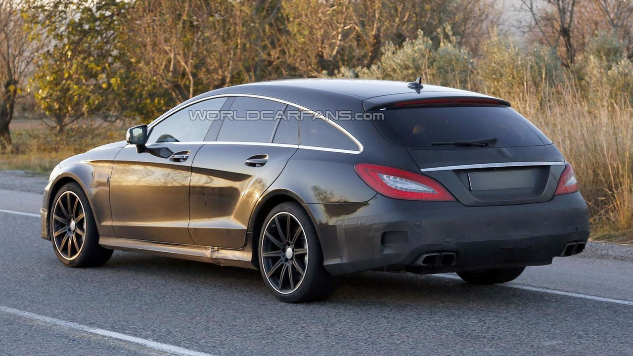 2015 Mercedes Cls Cls 63 Amg Shooting Brakes Spied With Minor Changes