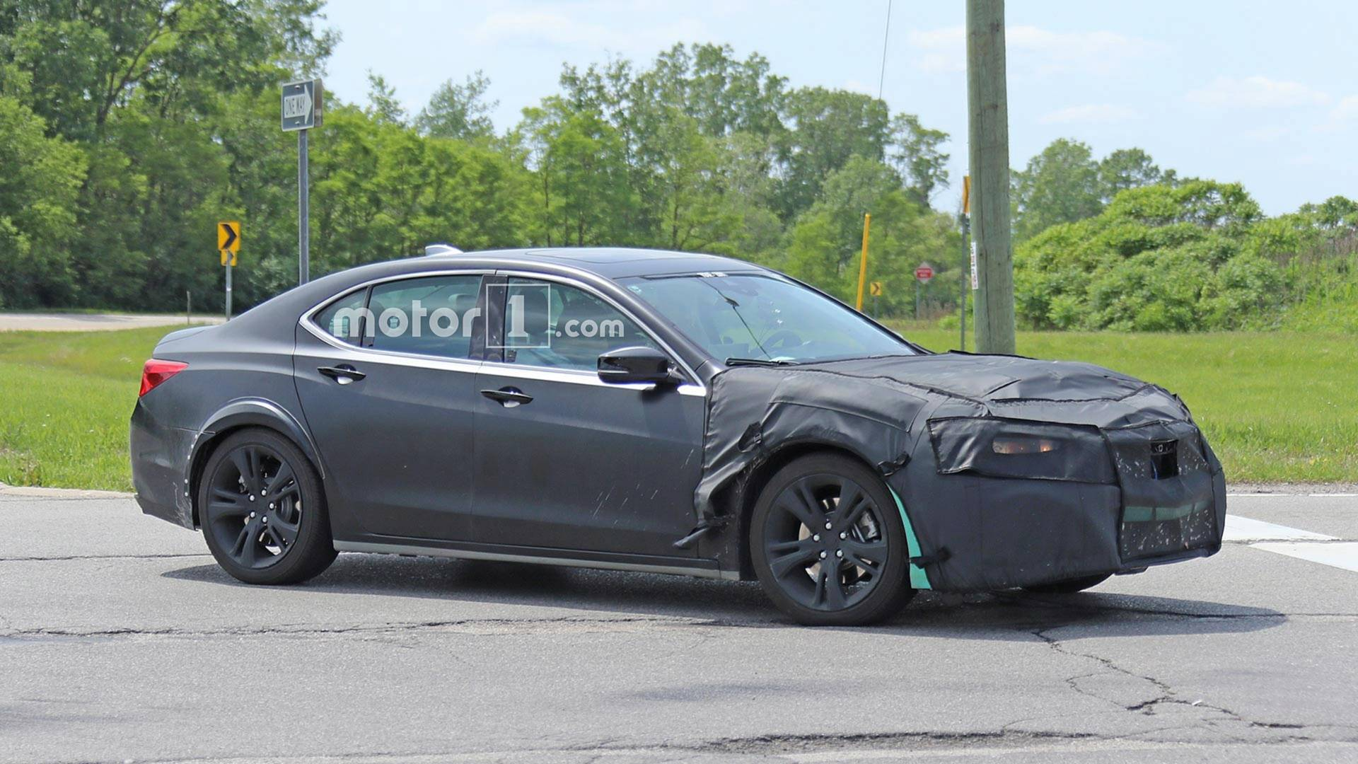 Bizarre Turquoise Acura Tlx Test Mule Spied On The Road