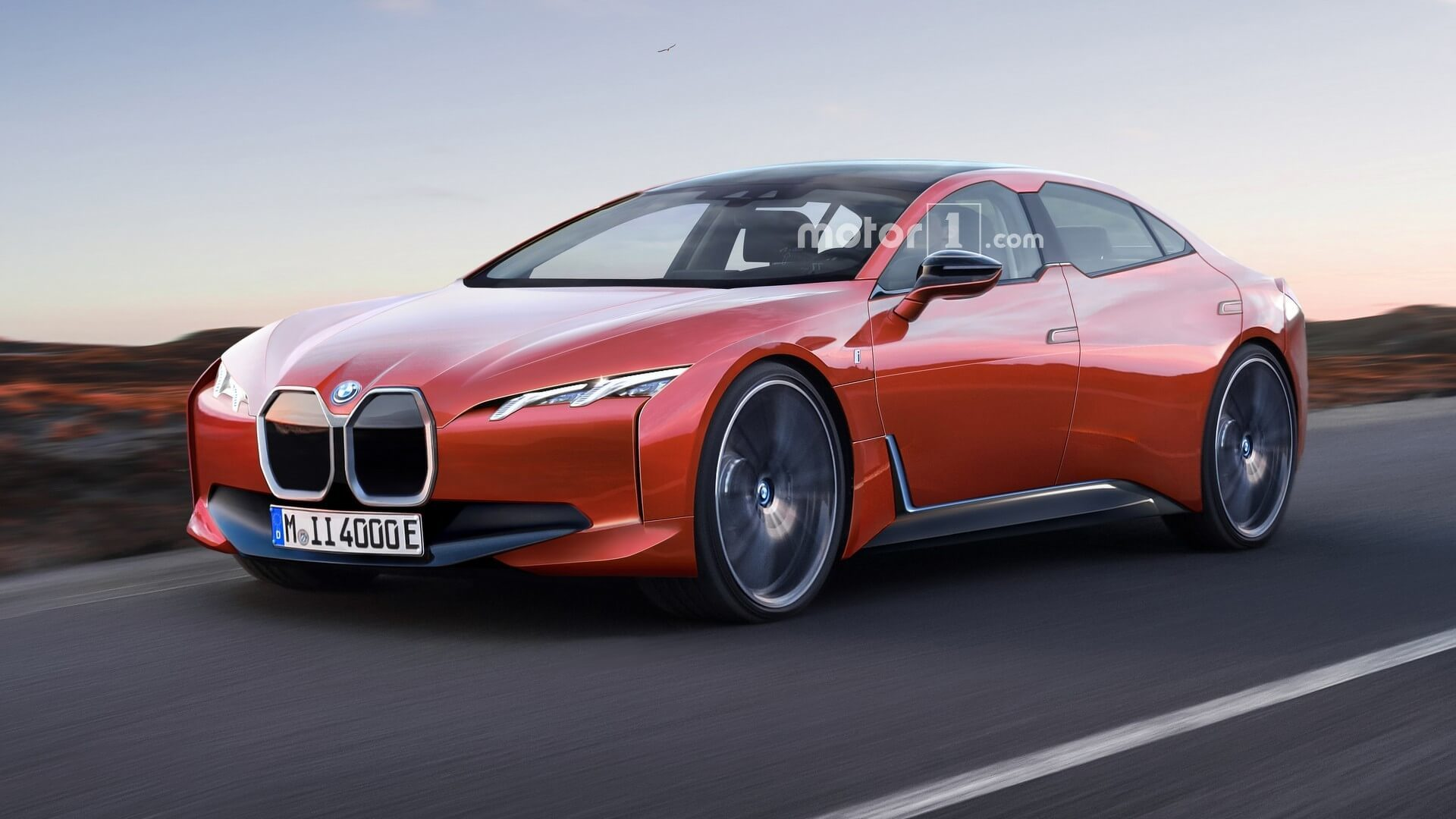 Bmw I4 Rendered As Stylish Electric Sedan With 435 Mile Range