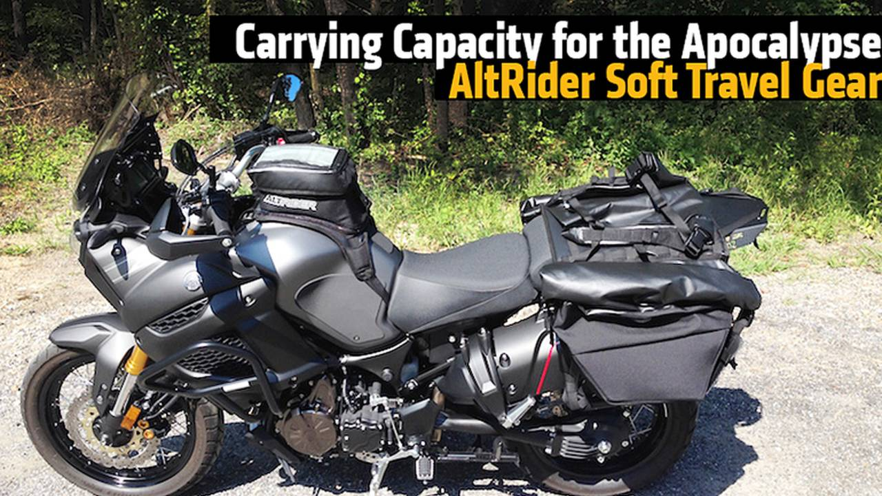 Carrying Capacity for the Apocalypse - AltRider Soft Travel Gear
