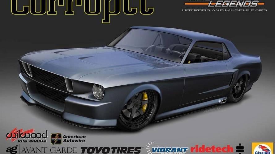V8-as Ferrari motorral szerelt '68-as Ford Mustang is lesz az idei SEMA-n