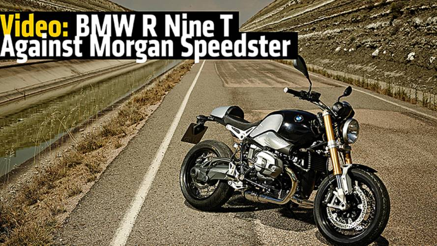 Video: BMW R Nine T Against Morgan Speedster