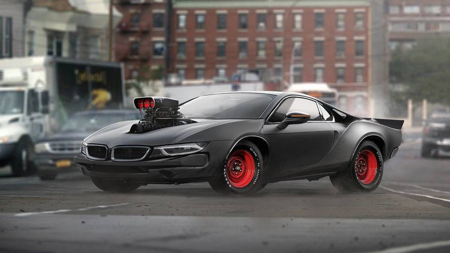 BMW i8 and Dodge Charger mashup