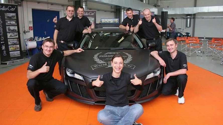 FOLIATEC Sets World Record Film Fitting Time on Audi R8