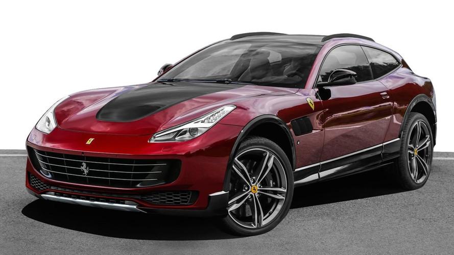 Yükseltilmiş Ferrari'yi hayal edelim