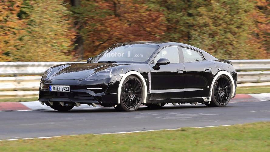 Porsche Mission E Nurburgring Spy Photos