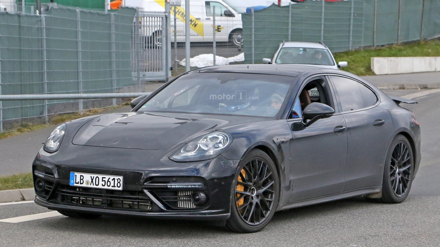 2017 Porsche Panamera flexes its muscles on the 'Ring