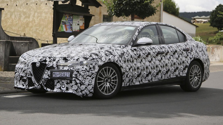 Alfa Romeo Giulia spied, could be a more mainstream variant