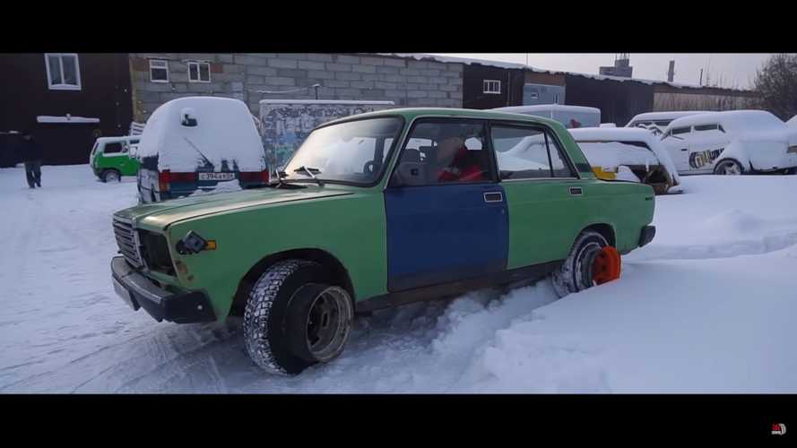DIY All-Wheel-Drive Lada Redefines The Term 'Sketchy'