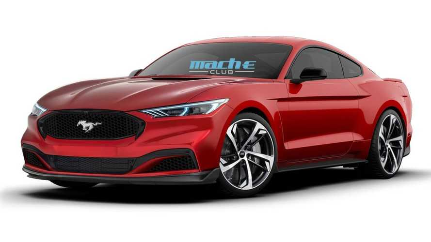 Ford Mustang rendered as next-gen electric pony car