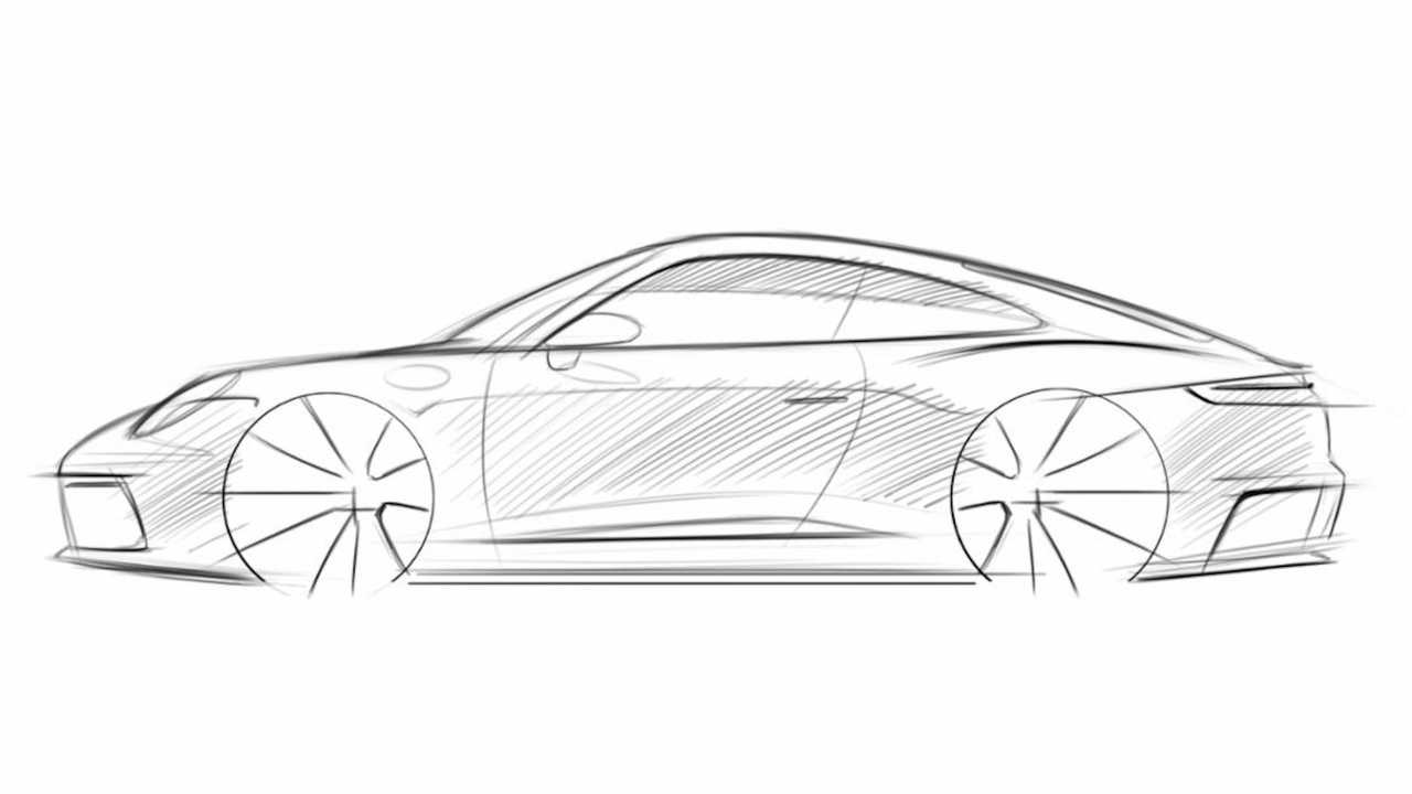 How To Draw A Porsche 911 - Step 6