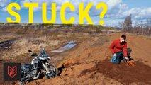 5 tricks get motorcycle unstuck