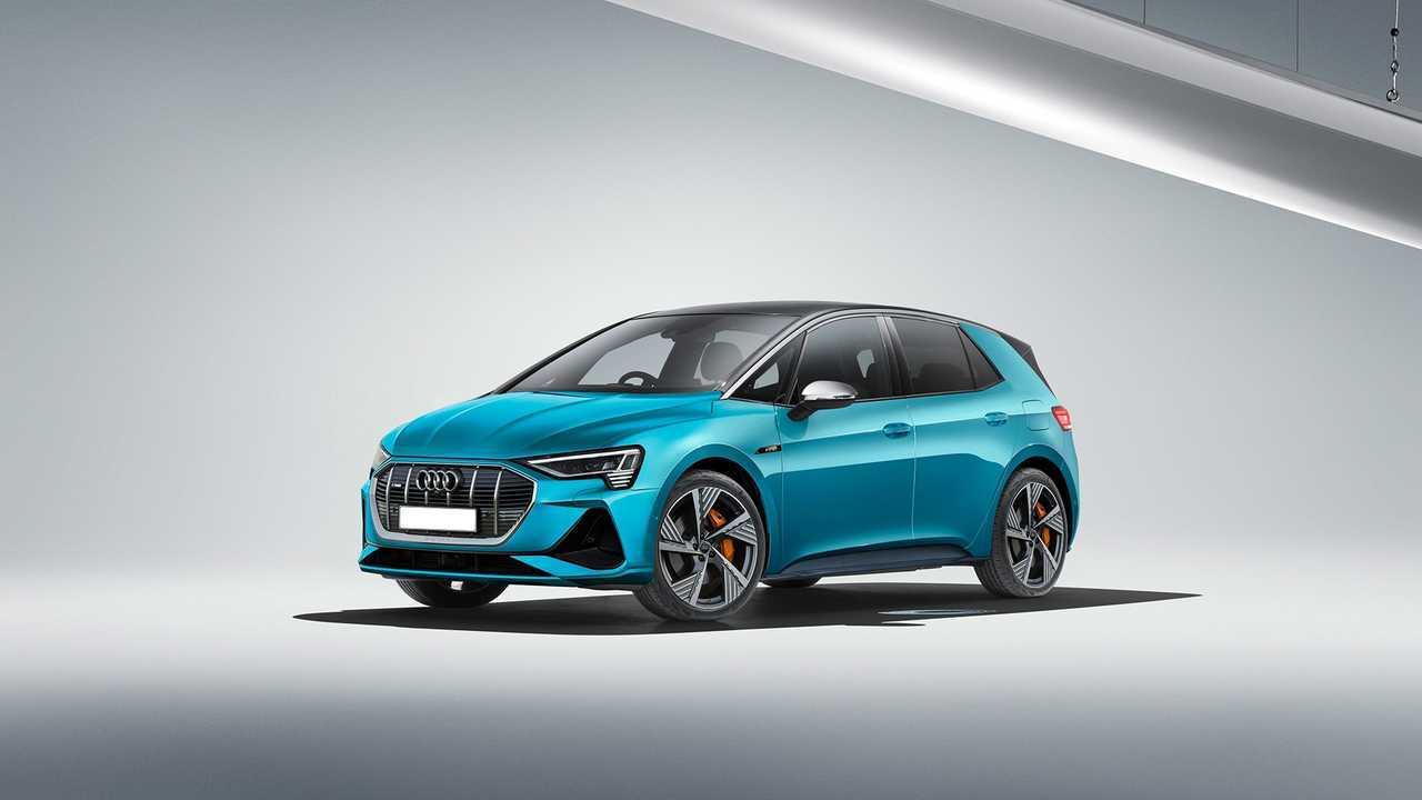 Render Audi e-tron compacto eléctrico