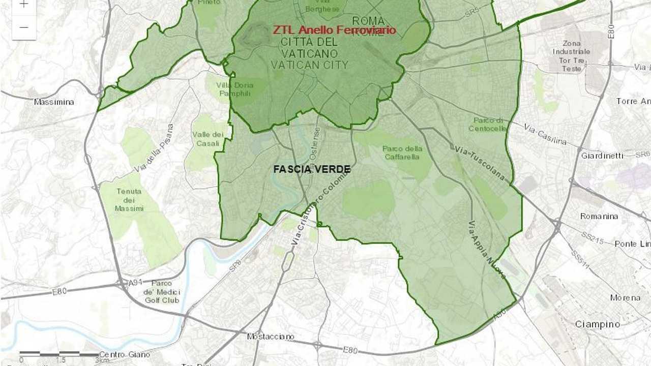 Cartina Roma Ciampino.Blocco Del Traffico A Roma Le Zone Interessate Mappa