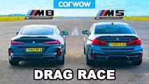 bmw m5 m8 drag race