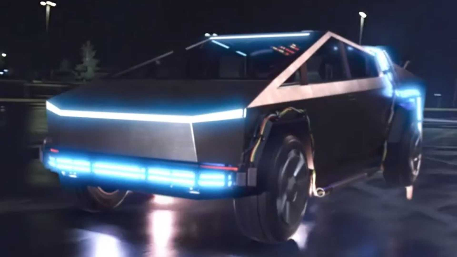 Watch Doc And Marty Send Tesla Cybertruck Back To The Future