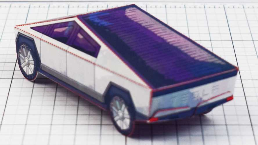 Check This Free Tesla Cybertruck Fold-Up Toy Right Now