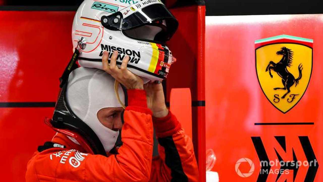 Sebastian Vettel at Barcelona Feb 2020 testing