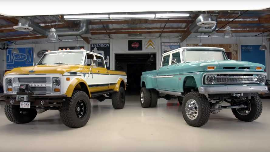 Jay Leno Goes Brodozing With Rtech Restomod Chevrolet Trucks