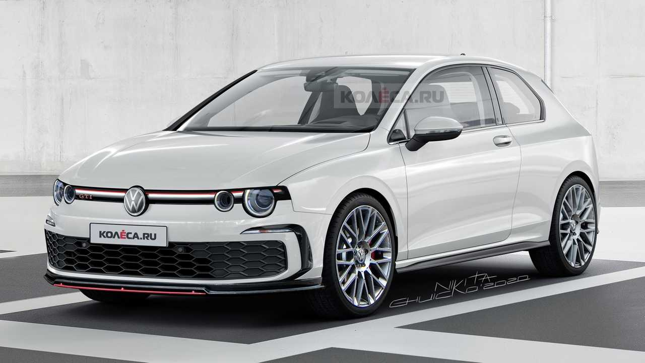 2021 VW Golf GTI rendered with Mk1 cues