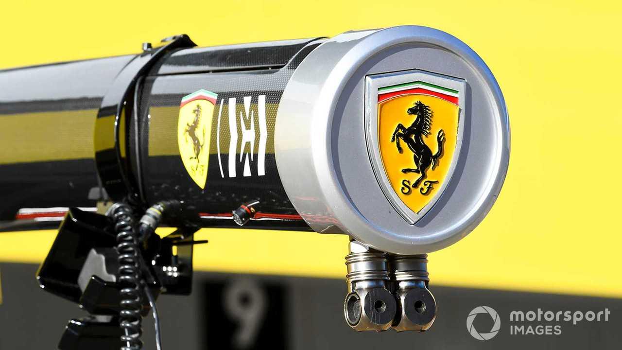 Ferrari Logo on pit gantry at Japanese GP 2019