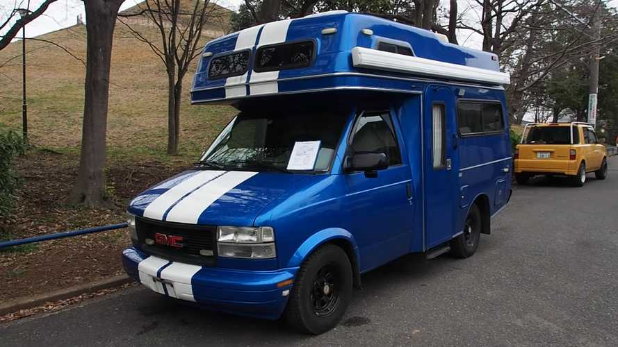 Check Out This GMC Camper With A Cool Look, Weird Story