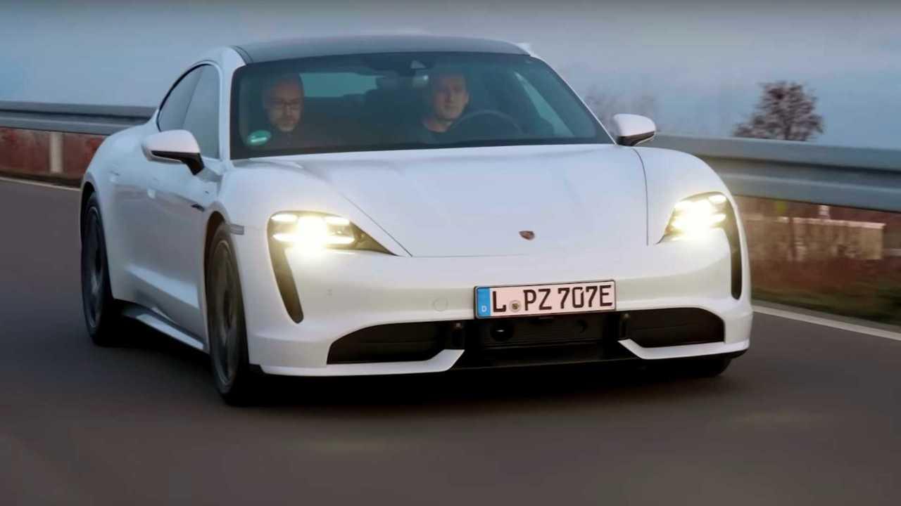 Porsche Taycan Turbo Autobahn range test
