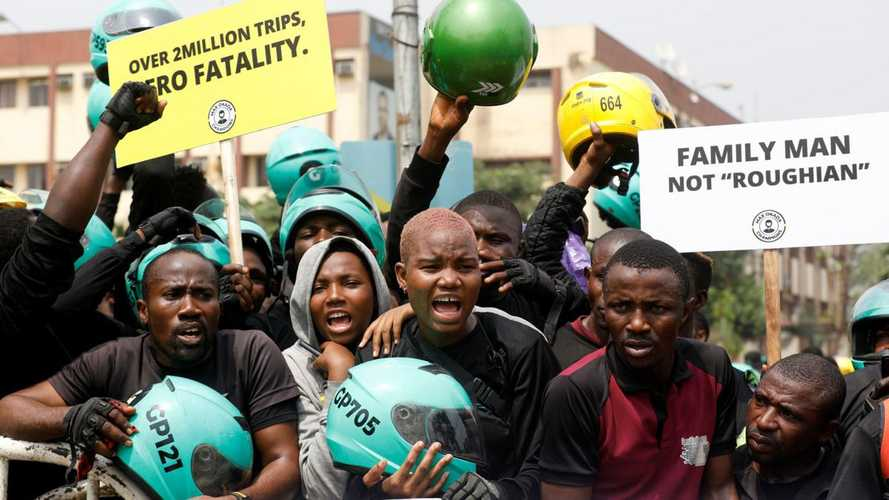 Lagos Protesters Stand Up Against Motorcycle Taxi Ban
