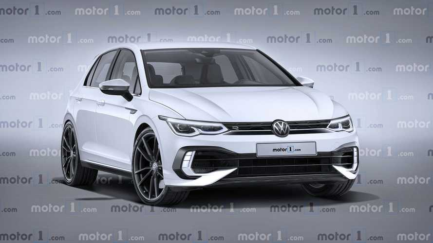 Render exclusivo del VW Golf R 2021 nos muestra el futuro hot hatch