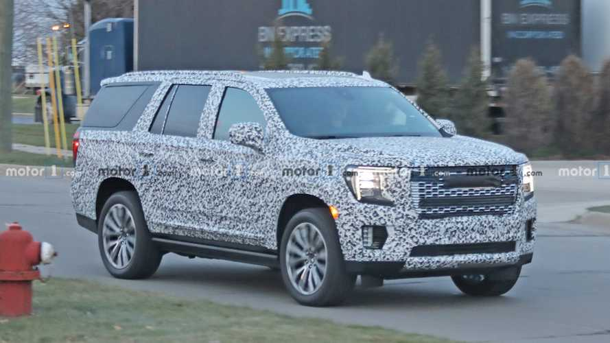 2021 GMC Yukon Spied On The Street Hiding Its Sierra Face