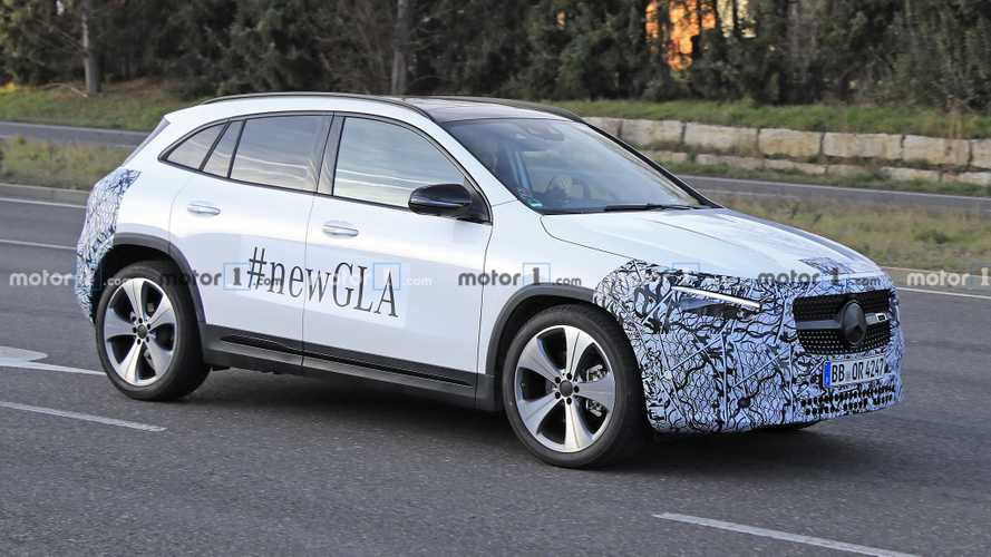 2021 Mercedes GLA Spied For The Last Time Showing Taller Body