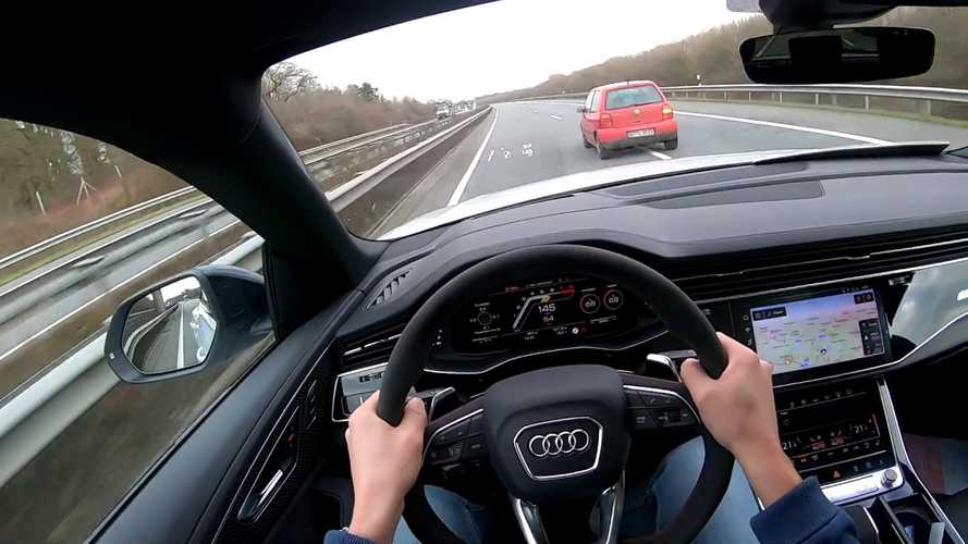 Audi RS Q8 Effortlessly Hits 188 MPH On The German Autobahn
