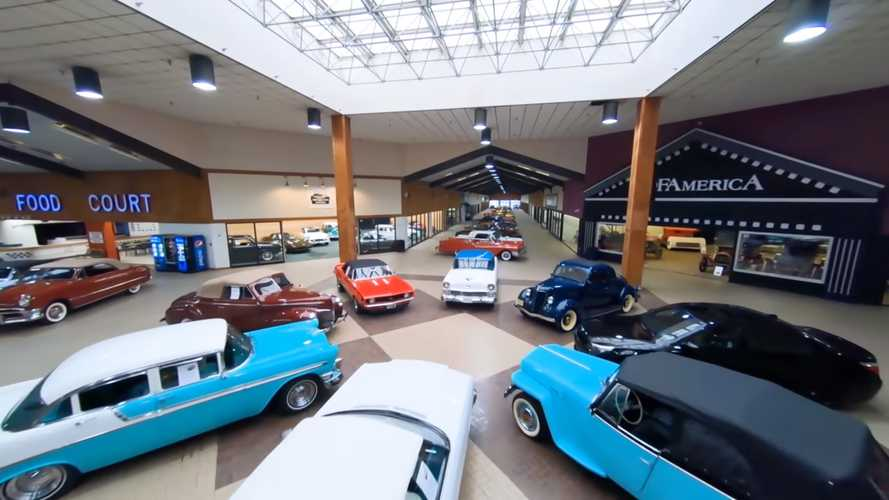 First-Person Drone Video Of Huge Classic Car Mall Is A Wild Ride