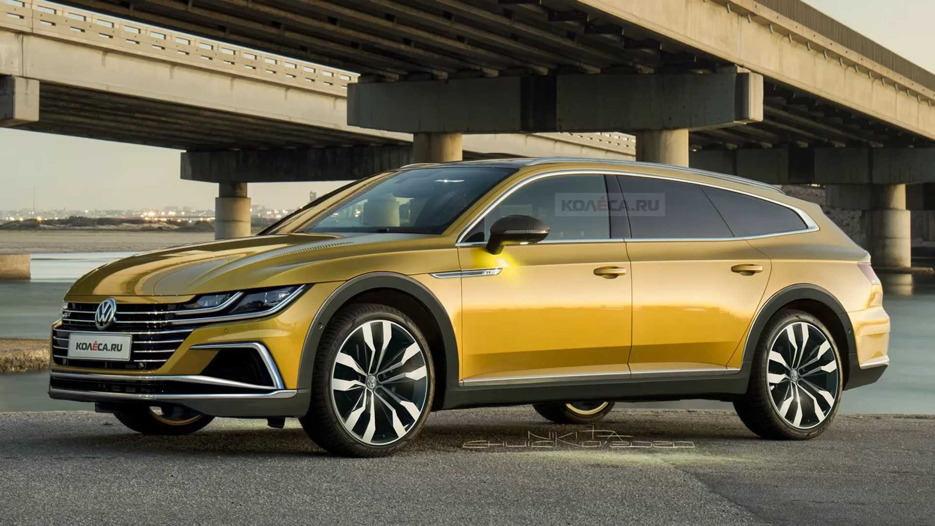 VW Arteon estate rendered as the anti-SUV