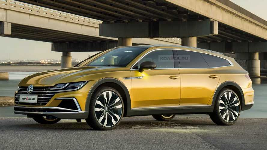 VW Arteon estate rendered as the anti-SUV