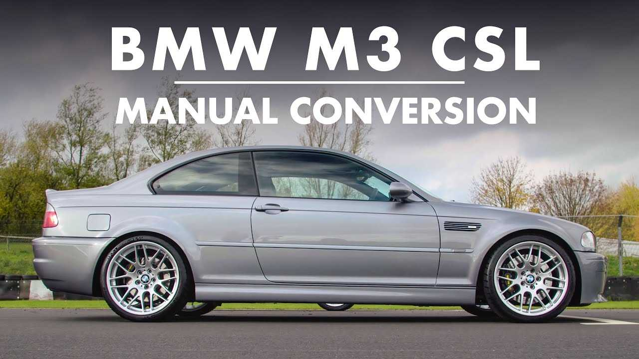 Bmw M3 Csl With Manual Gearbox Is A Purist S Delight