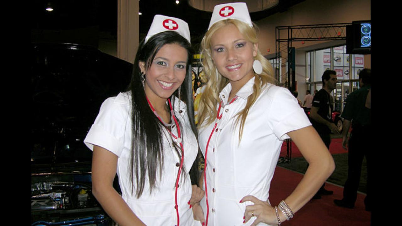 Auf der SEMA-Show wird getunt, bis diese beiden Ärztinnen kommen