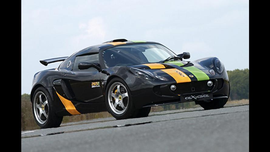 Sauberer Sportler: Lotus Exige 265E mit Ethanolmotor