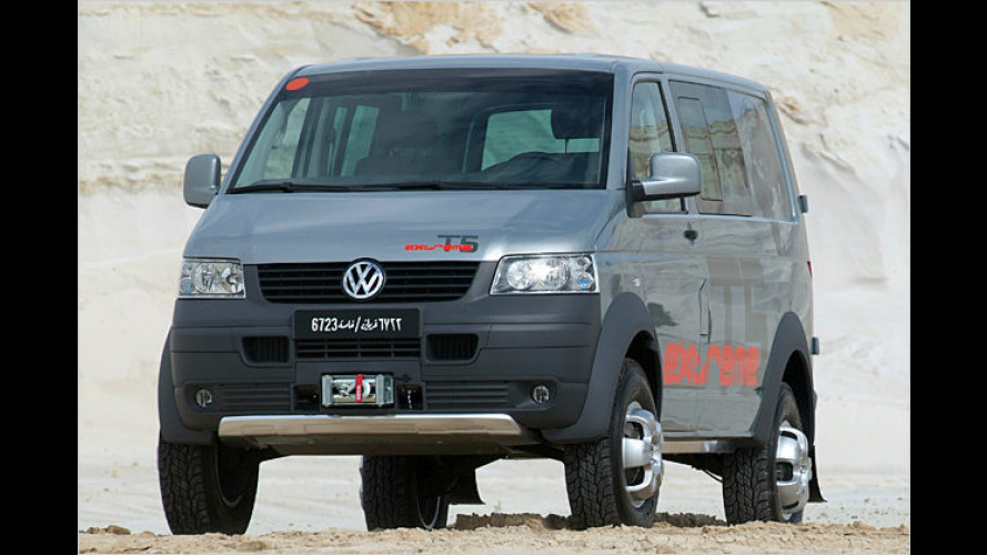 """VW Bus ,extreme"""": Höher gelegt für tiefes Gelände"""