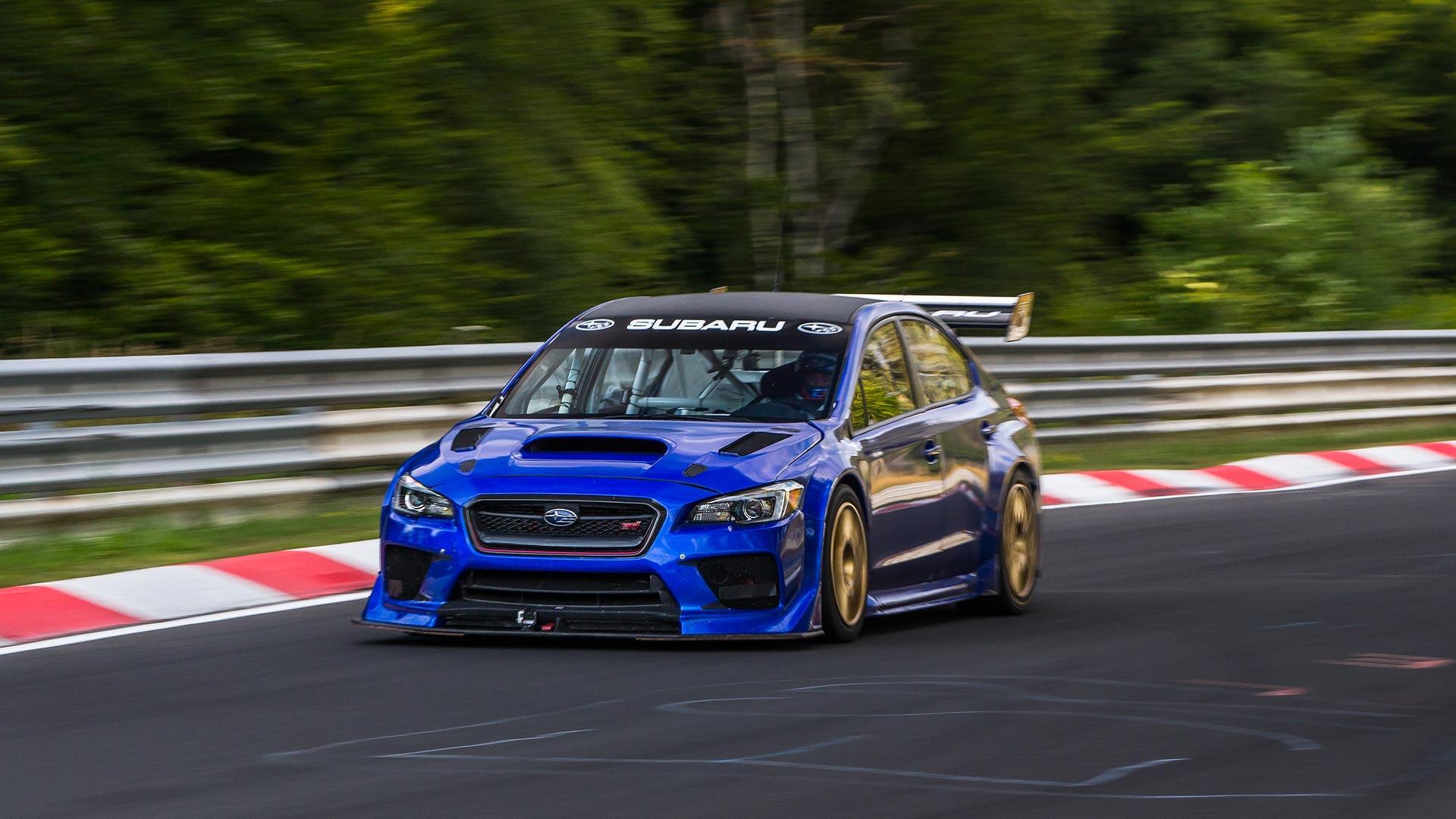 Watch The Subaru STI NBR Special Set Sedan Lap Record At The
