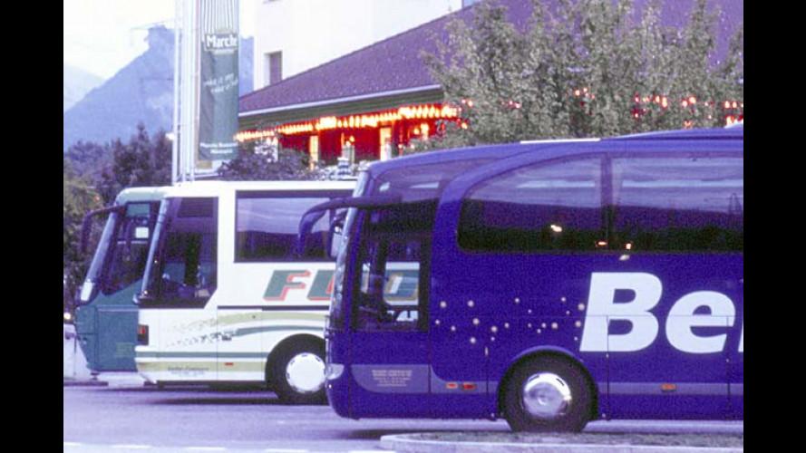 ADAC Busreisen-Test 2003: Schwere Mängel auf jeder fünften Tour
