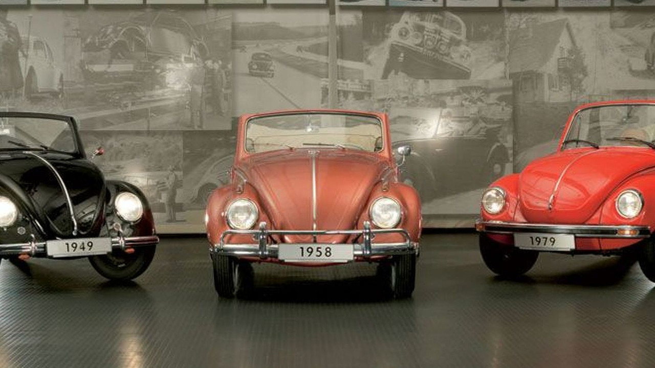 1949, 1958 and 1979 Beetle convertible models