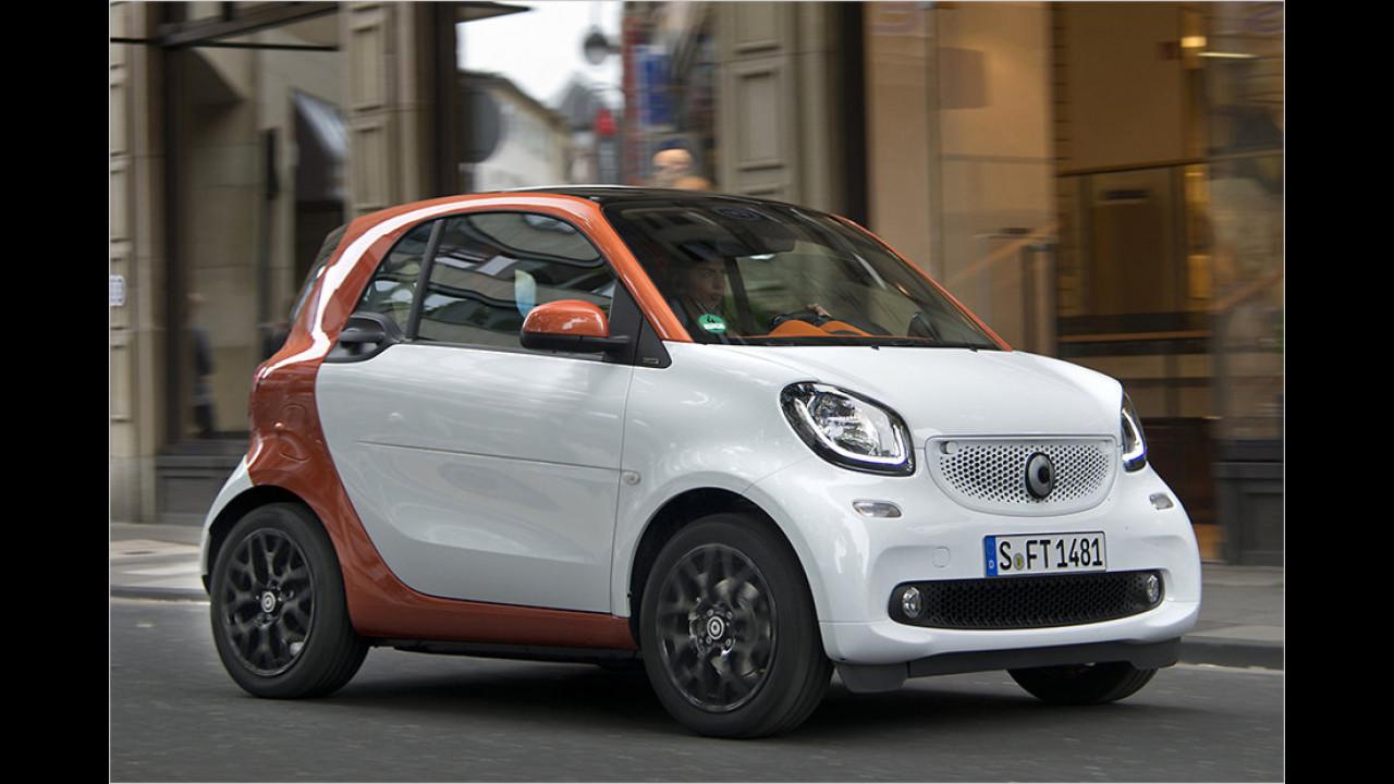 Kürzestes Serienauto: Smart Fortwo, 2,70 Meter