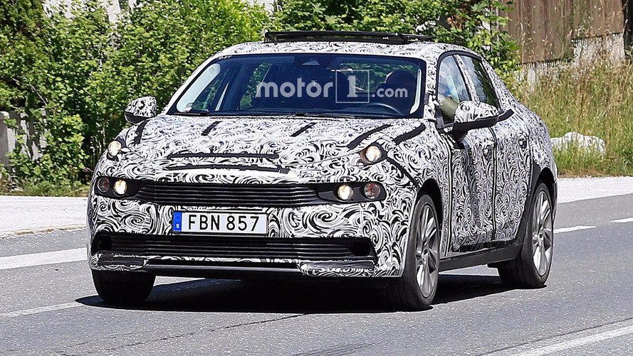 Lynk & Co 03 Sedan Spied Revealing Its Plentiful Lights