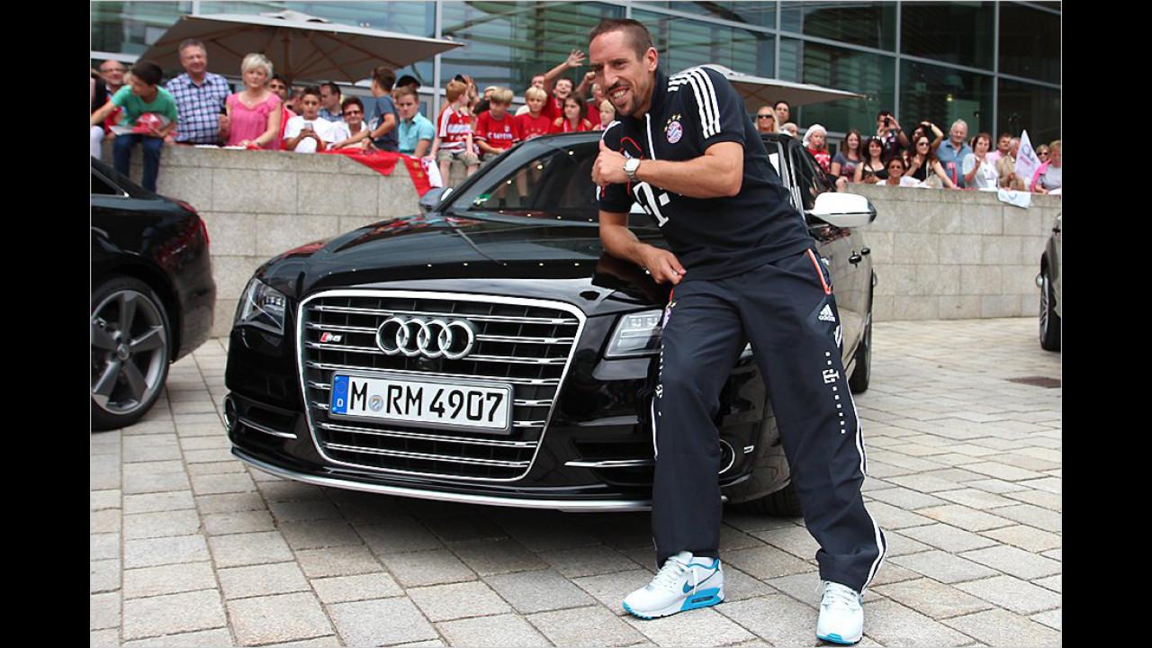 Franck Ribéry: Audi S8
