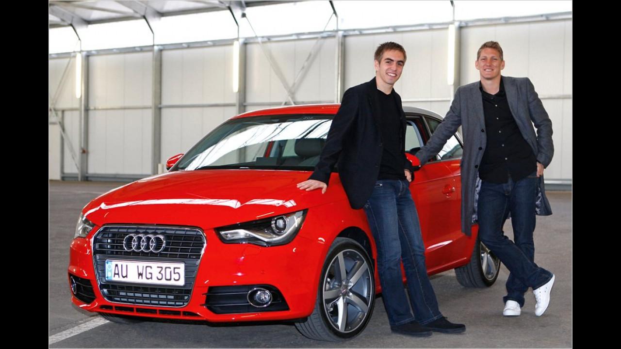 Philipp Lahm und Bastian Schweinsteiger: Audi A1
